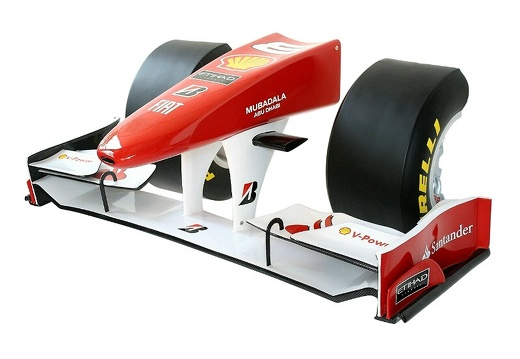 09 FULL SIZE FORMULA ONE NOSE CONE WITH HALF TIRES BBS RIMS WALL MOUNTED