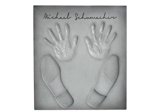 17 MICHAEL SCHUMACHER HOLLYWOOD WALK OF FAME CEMENT HAND FOOT PRINTS ANY NAME AVAILABLE
