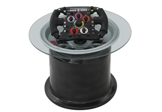 20 FORMULA ONE TIRE RIM TABLE WITH CARBON FIBER EFFECT 2