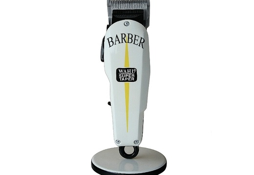 B0716 3 FOOT BARBER SHOP HAIR CLIPPER ADVERTISING SIGN FLOOR MOUNTED ANY WORDS PAINTED 1