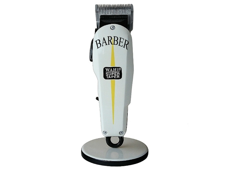 B0716_3_FOOT_BARBER_SHOP_HAIR_CLIPPER_ADVERTISING_SIGN_FLOOR_MOUNTED_ANY_WORDS_PAINTED_1.JPG
