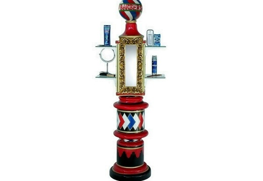 N1 ANTIQUE BARBER POLE GOLD MIRROR DISPLAY STAND