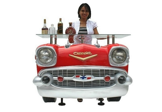 1030RED RETRO VINTAGE CAR BAR 1 RED