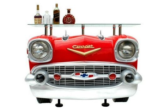1030RED RETRO VINTAGE CAR BAR 2 RED