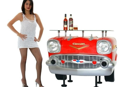 1030RED RETRO VINTAGE CAR BAR 5 RED