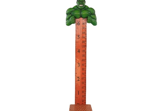 B0412 INCREDIBLE HULK GREEN MONSTER HOW TALL ARE YOU RULER ON A BASE 1