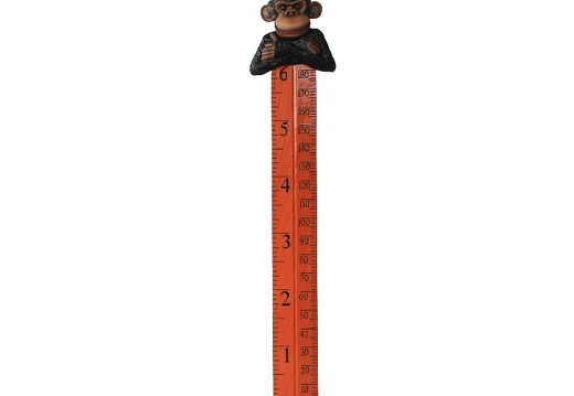 B0423 FRIENDLY FUNNY MONKEY HOW TALL ARE YOU RULER 1