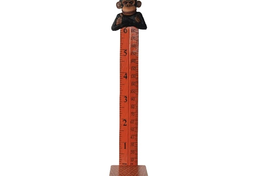 B0424 FRIENDLY FUNNY MONKEY HOW TALL ARE YOU RULER ON A BASE 1