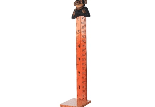 B0424 FRIENDLY FUNNY MONKEY HOW TALL ARE YOU RULER ON A BASE 3
