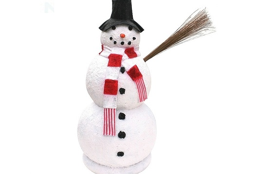 1508 FUNNY CHRISTMAS SNOW MAN WITH HAT STATUE