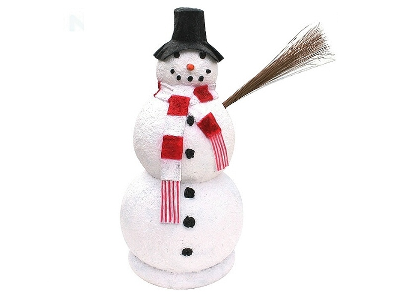 1508_FUNNY_CHRISTMAS_SNOW_MAN_WITH_HAT_STATUE.JPG
