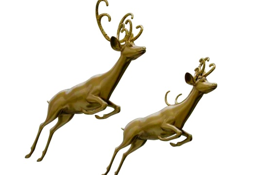 1509 CHRISTMAS GOLD REINDEER STATUES