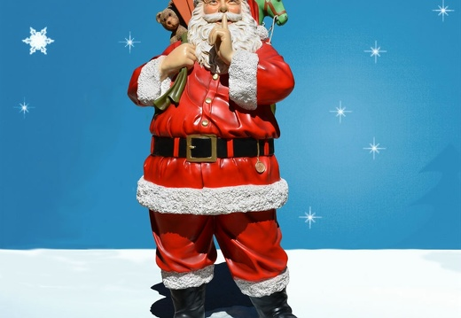 1572 FATHER CHRISTMAS STATUE 6 FOOT TALL 1