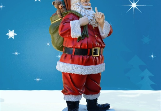 1572 FATHER CHRISTMAS STATUE 6 FOOT TALL 2