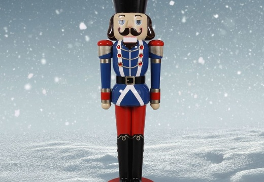 1574 12 FOOT TALL BLUE CHRISTMAS NUTCRACKER TOY SOLDIER 2