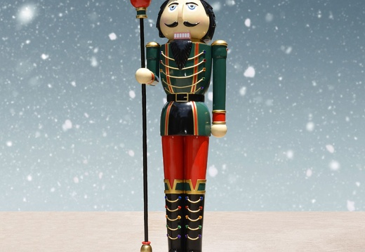 1576 10 FOOT TALL LEFT CHRISTMAS NUTCRACKER TOY SOLDIER 2