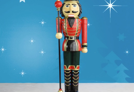 1578 6 FOOT TALL LEFT CHRISTMAS NUTCRACKER TOY SOLDIER