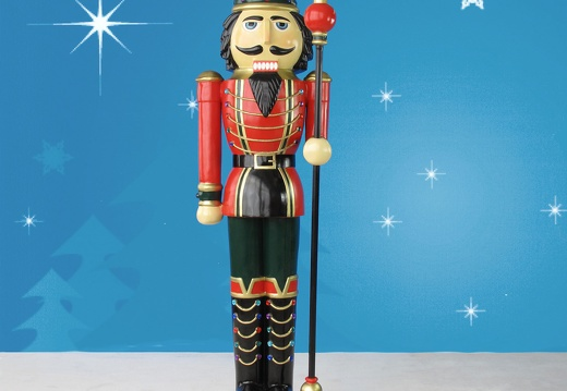 1579 6 FOOT TALL RIGHT CHRISTMAS NUTCRACKER TOY SOLDIER