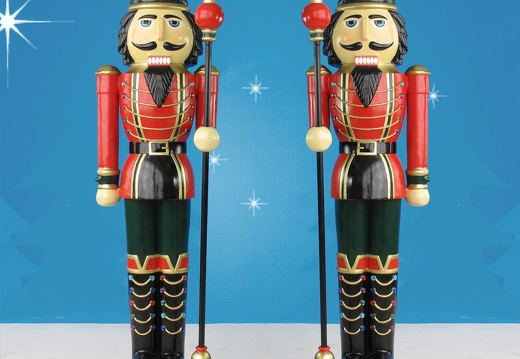 1580 6 FOOT TALL LEFT RIGHT CHRISTMAS NUTCRACKER TOY SOLDIER 2