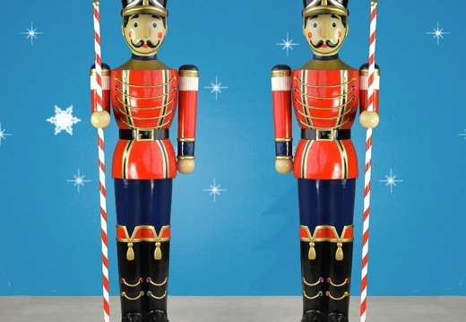 1584 6 FOOT TALL LEFT RIGHT CHRISTMAS NUTCRACKER TOY SOLDIER 2