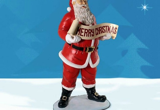 1585 FATHER CHRISTMAS STATUE 3 FOOT TALL