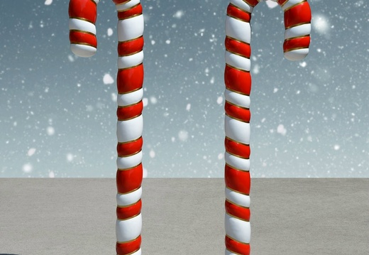 1586 PAIR OF 6 FOOT CHRISTMAS CANDY CANE 2