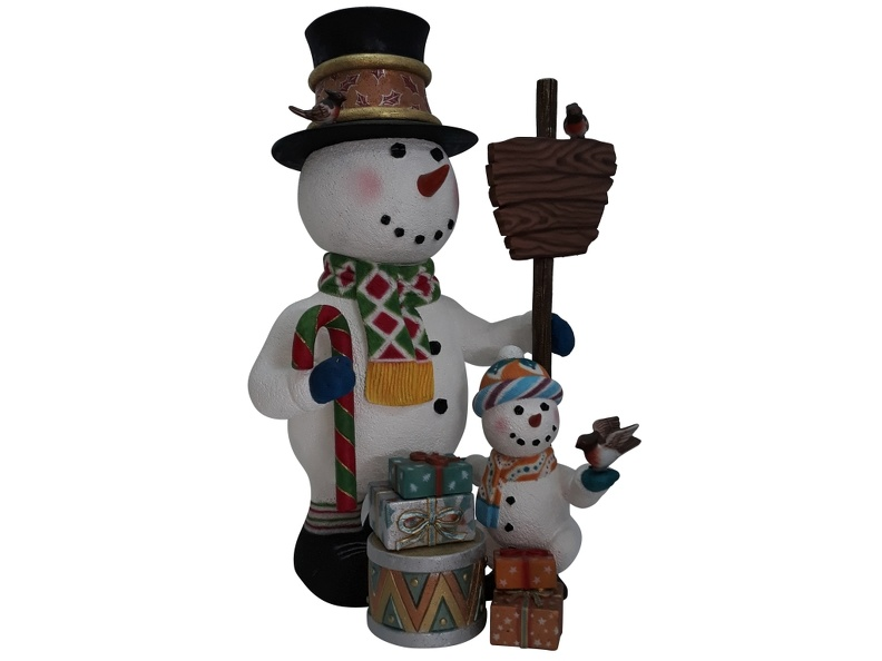 1632_CHRISTMAS_SNOWMAN_STATUE_HOLDING_SIGN_BABY_SNOWMAN_2.JPG