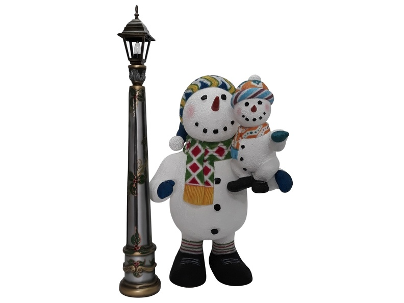 1636_CHRISTMAS_SNOWMAN_STATUE_HOLDING_BABY_SNOWMAN_1.JPG