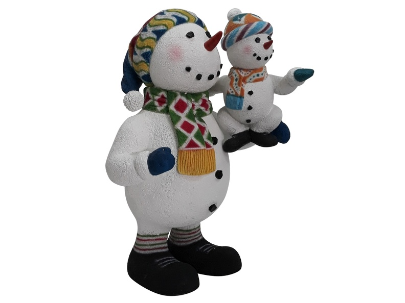 1637_FUNNY_CHRISTMAS_SNOWMAN_STATUE_HOLDING_BABY_SNOWMAN_2.JPG