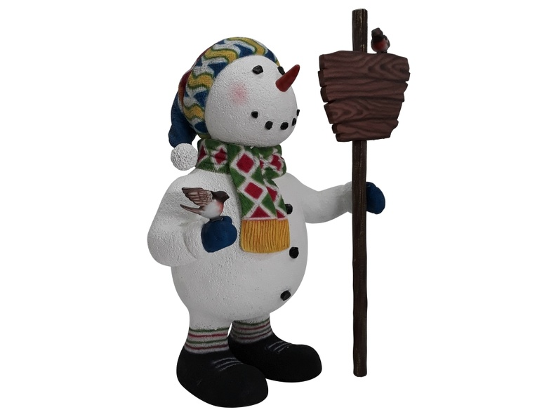 1638_FUNNY_CHRISTMAS_SNOWMAN_STATUE_HOLDING_WOODEN_SIGN_2.JPG