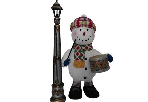 1650 FUNNY CHRISTMAS SNOWMAN STATUE TOY DRUM LAMPOST 1
