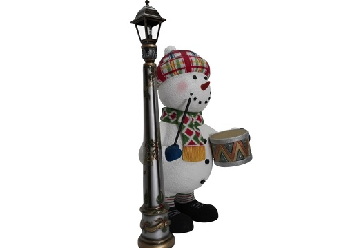 1650 FUNNY CHRISTMAS SNOWMAN STATUE TOY DRUM LAMPOST 2