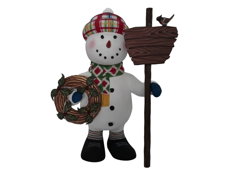 1652_CHRISTMAS_SNOWMAN_STATUE_HOLDING_WOODEN_SIGN_CHRISTMAS_DECORATION_1.JPG