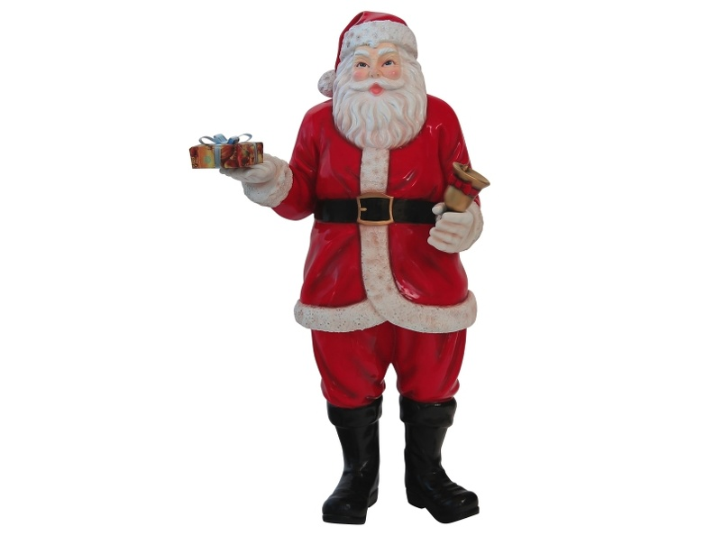 8703F_FATHER_CHRISTMAS_LIFE_LIKE_STATUE_WITH_GIFTS_BELL_1.JPG