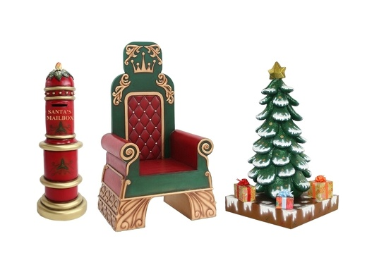 916 SANTA THRONE LETTERS TO SANTA MAILBOX CHRISTMAS TREE