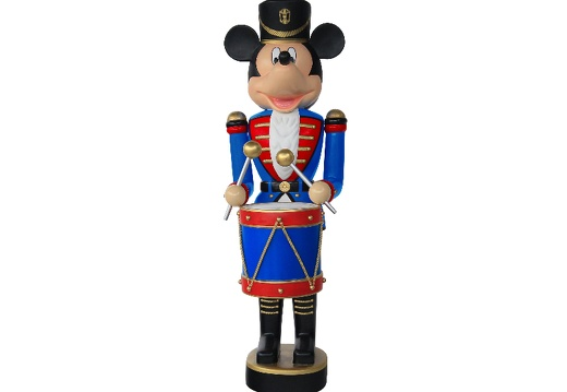 918  FUNNY MOUSE CHRISTMAS SOLDIER NUTCRACKER DRUM SET 6 5 FOOT 1