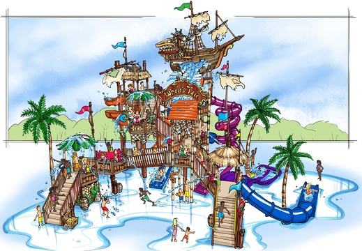CONDRA10 CONCEPTUAL DRAWINGS RENDERS PLANS FOR WATER PARK THEME PARK PROJECTS 3D CUSTOM THEMING