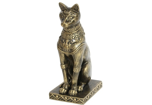 JBEGY002 GOLD EGYPTIAN PHARAOHS TEMPLE CAT 1
