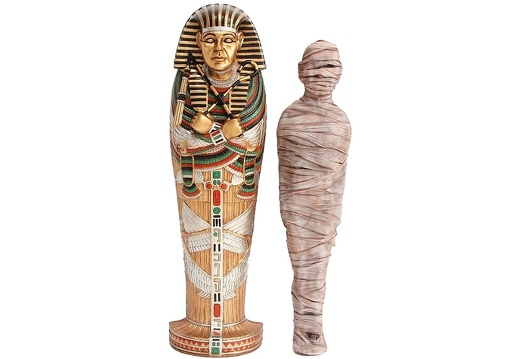 JBEGY011 TOP OF TUTANKHAMENS TOMB MUMMY WALL MOUNTED FREE STANDING