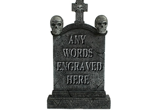 GSJJ2042 MEDIEVAL STONE EFFECT GRAVESTONE ANY WORDS ENGRAVED