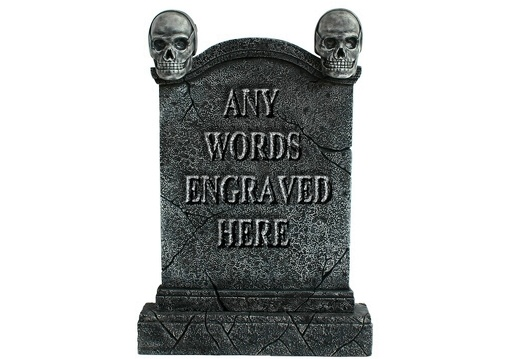 GSJJ2043 MEDIEVAL STONE EFFECT GRAVESTONE ANY WORDS ENGRAVED