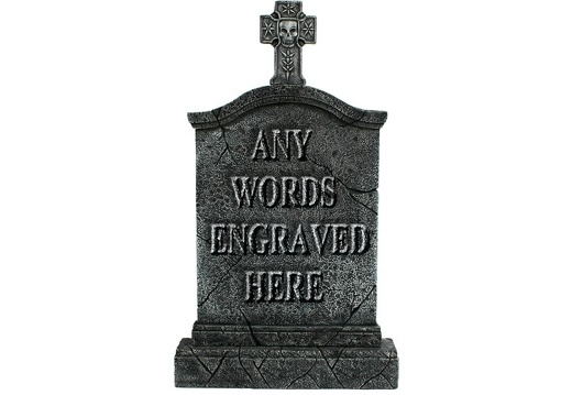 GSJJ2045 MEDIEVAL STONE EFFECT GRAVESTONE ANY WORDS ENGRAVED