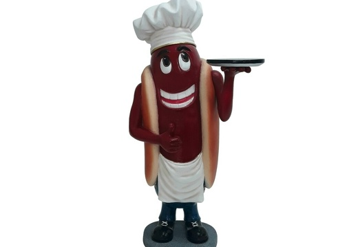 1537 AMERICAN HOT DOG CHEF ADVERTISING STATUE 1