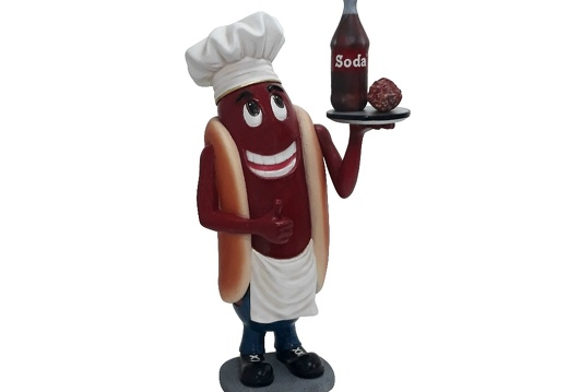 1537 AMERICAN HOT DOG CHEF ADVERTISING STATUE 2