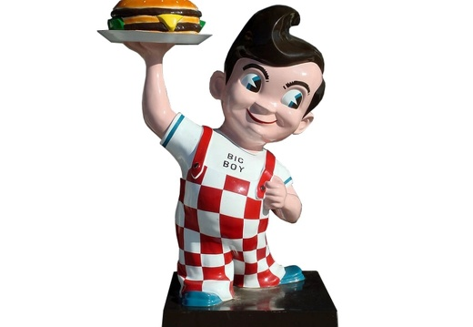 1002 BURGER BOY ADVERTISING SIGN STATUE 5 FOOT TALL