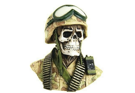 1014 SOLDIER SKULL LIFE SIZE