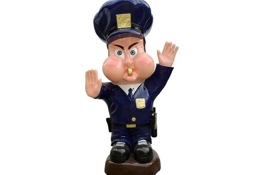 1017 LIFE SIZE FUNNY POLICEMAN OFFICER STATUE