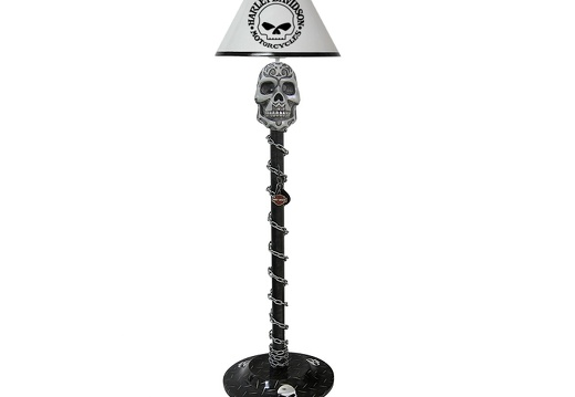 B0597 HARLEY-DAVIDSON CHOPPER BIKE SKULL LAMP LARGE