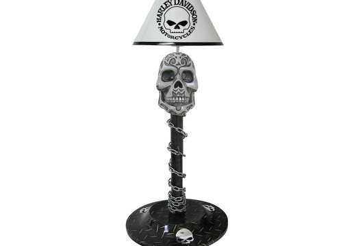 B0598 HARLEY-DAVIDSON CHOPPER BIKE SKULL LAMP SMALL