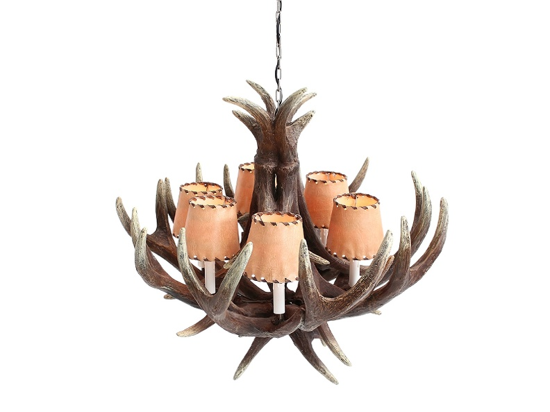 JBF105_ANTLER_HORN_CHANDELIER_WITH_6_LAMPS_LEATHER_LAMPSHADES_2.JPG